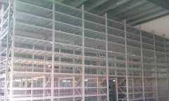 三层阁楼货架配升降平台通
